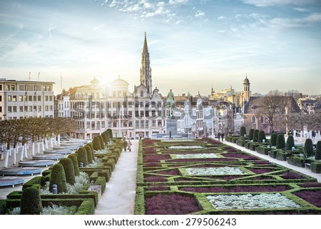 Monts des Arts in Brussels, Belgium - stock photo