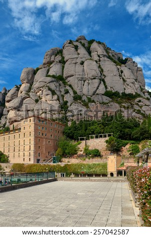 Montserrat Abbey, Catalonia, Spain - stock photo