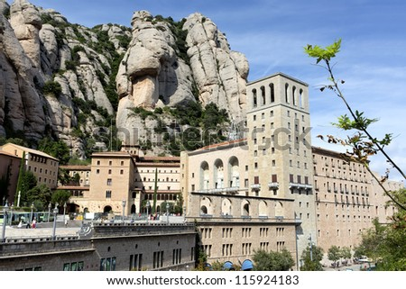 Montserrat abbey, Spain - stock photo
