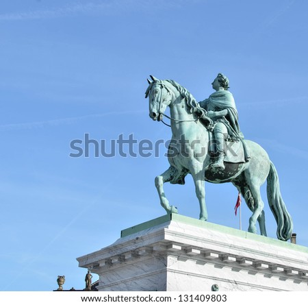 Monument in Copenhagen - Denmark - stock photo