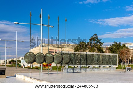 Monument of Alexander The Great in Thessaloniki, Greece - stock photo