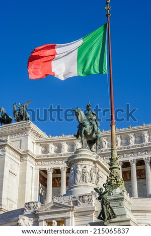 Monument of Vittorio Emanuele II in Rome - stock photo