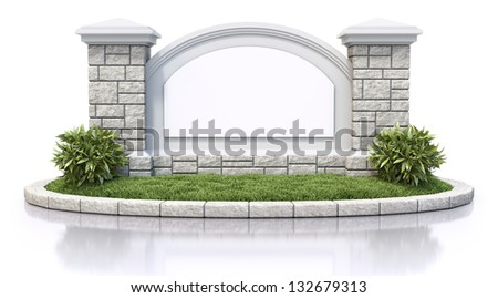 Monument sign - stock photo