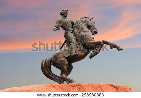 Monument to the ancient governor, and the legendary hero who defended Russia from l invasions in the thirteenth century - stock photo