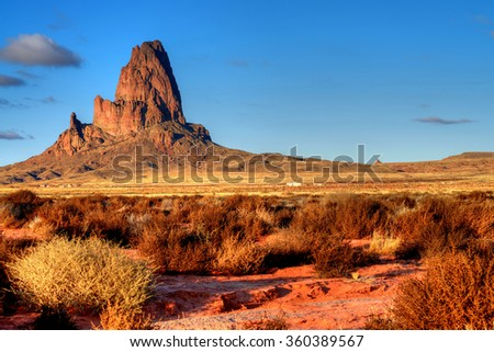 Monument Valley Arizona site of many cowboy western movies - stock photo