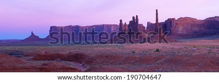 Monument Valley at sunset, Utah, USA  - stock photo