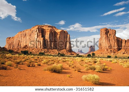 Monument Valley North Window - stock photo