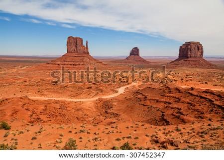 Monument Valley Scenic Landscape - stock photo