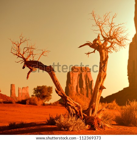 Monument Valley,Utah,USA - stock photo