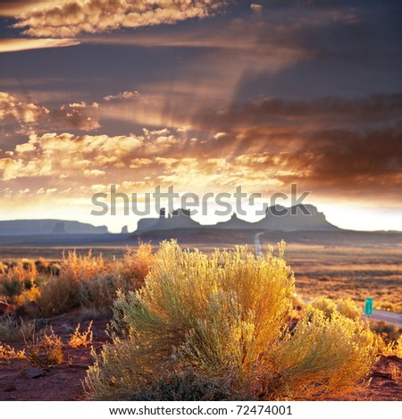 Monument Valley, Utah,USA - stock photo