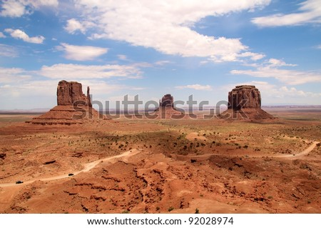 Monument Valley Valley Tribal Park, Arizona. - stock photo