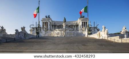 Monument Vittorio Emanuele II, Rome, Italy - stock photo