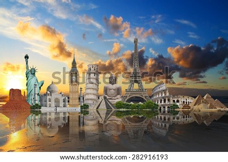 Monuments of the world - stock photo