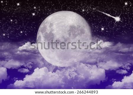 Moon background - stock photo