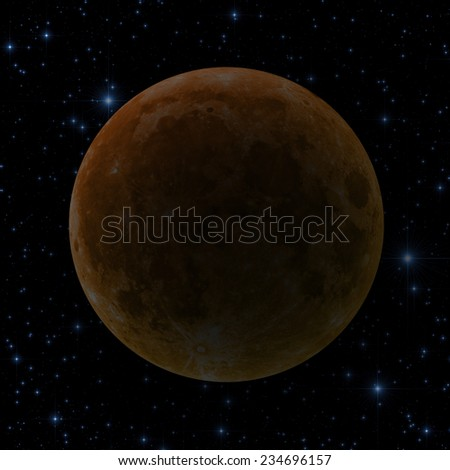 Moon eclipse.  - stock photo