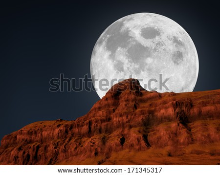moon. Elements of this image furnished by NASA - stock photo