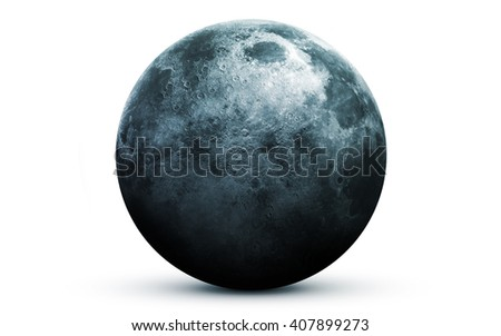 Moon - High resolution 3D images presents planets of the solar system. This image elements furnished by NASA - stock photo