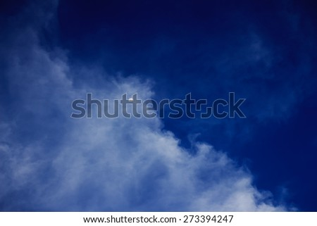 moon in a cloudy night blue sky. fantastic beautiful landscape - stock photo