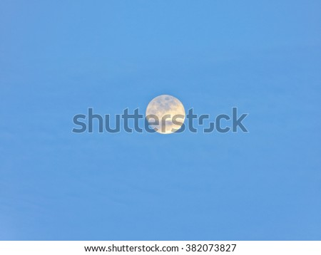 moon in the sky - stock photo