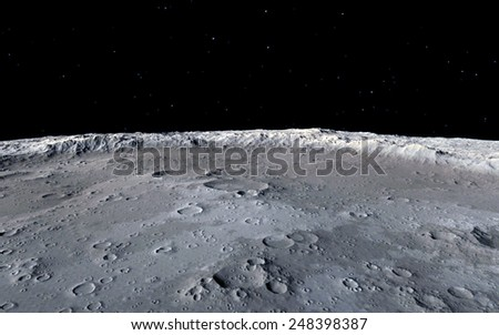 Moon Surface Pictures Moon Surface Stock Photo