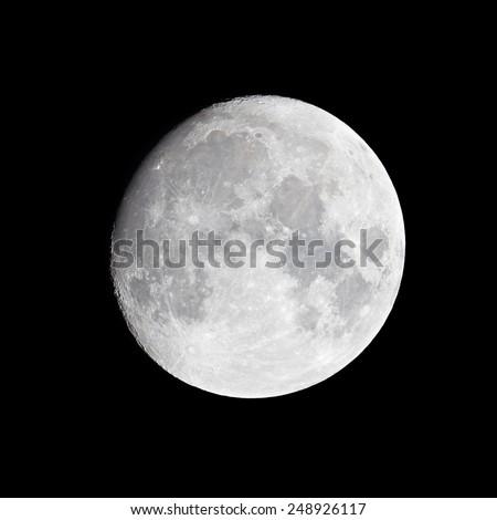 Moon (waxing gibbous) - stock photo