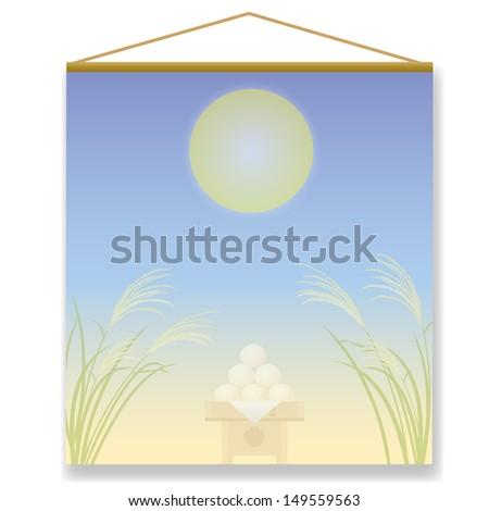 Moonlight party  pampas grass Japan  - stock photo