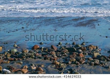 Moonstone beach, Cambria, California - stock photo