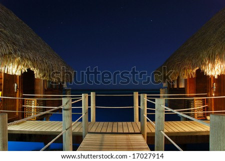 Moorea Bungalows - stock photo