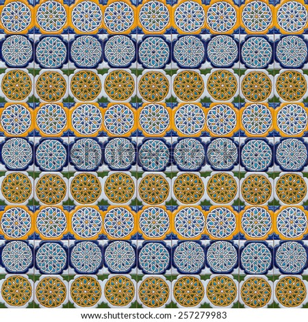 Moorish tile background - stock photo