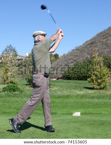 MOORPARK, CA - NOV 1:  George Lazenby attends the 3rd Annual Scotty Medlock and Robby Krieger Celebrity Golf Invitational on November 1, 2010 in Moorpark, CA - stock photo