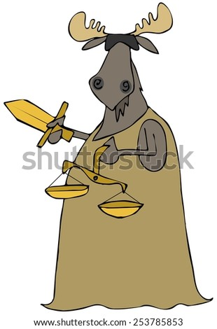 Moose justice - stock photo