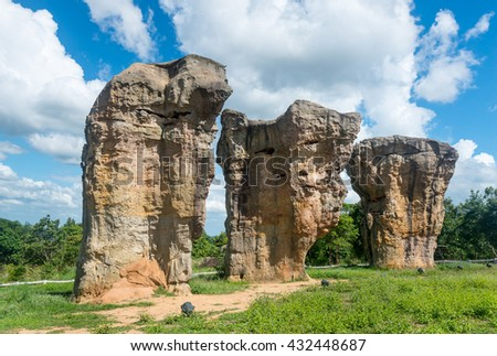 Mor Hin Khao, Stonehenge of Thailand, Chaiyaphum - stock photo