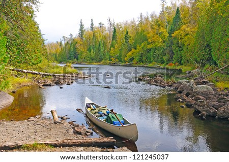 Mora Lake Portage in the Boundary Waters - stock photo
