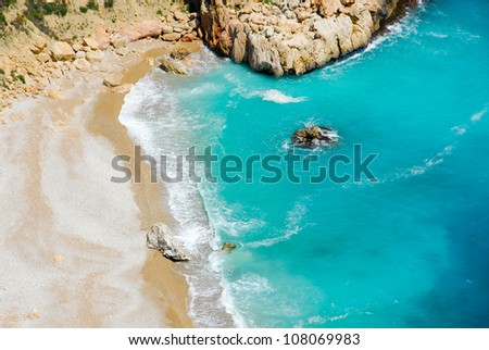 Moraig beach, Alicante (Spain) - stock photo
