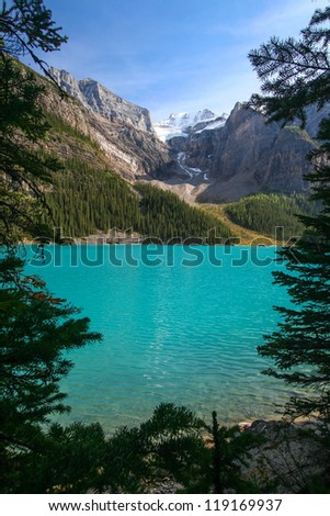 Moraine Lake at the Banff National Park in Canada - stock photo