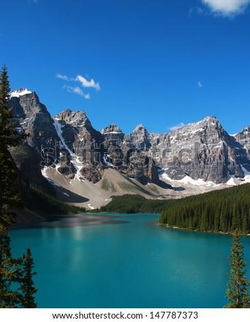 Moraine Lake, Banff, Canada. - stock photo