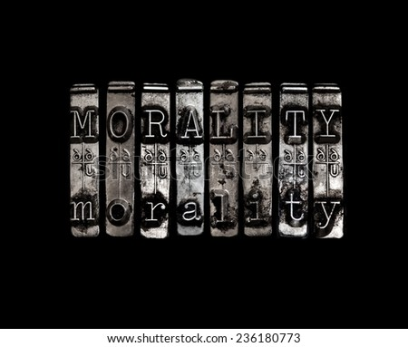 Morality concept - stock photo