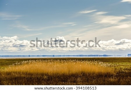 Morecambe Bay, Cumbria, England  - stock photo
