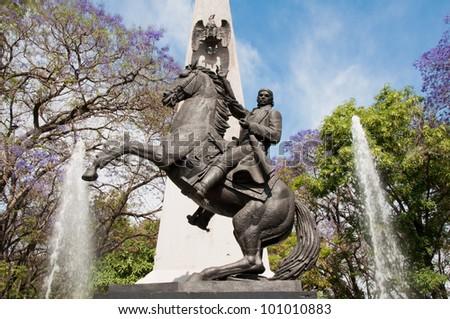 Morelos statue, Guadalajara (Mexico) - stock photo