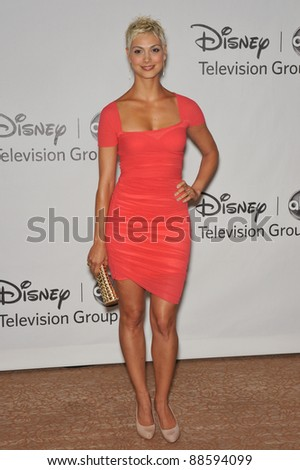 """Morena Baccarin - star of """"V"""" - at the Disney ABC TV All Star Mixer at the Beverly Hilton Hotel, Beverly Hills, CA. August 1, 2010  Los Angeles, CA Picture: Paul Smith / Featureflash - stock photo"""