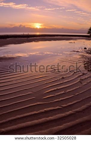 Moreton Bay sunrise - stock photo