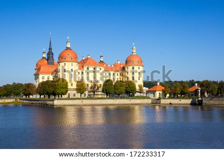 Moritzburg Castle, Saxon, Dresden - stock photo