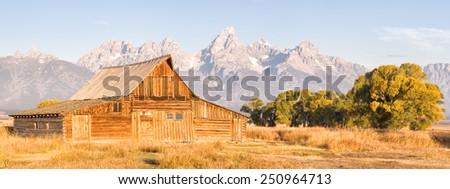 Mormon Row - stock photo