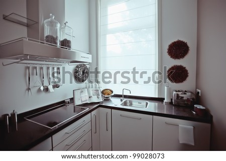 morning in kitchen - stock photo