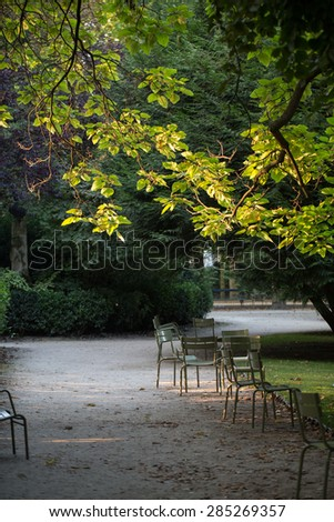 Morning  in the Gardens of Luxembourg, Paris  - stock photo