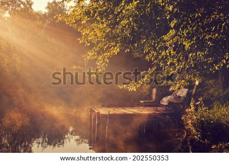 Morning lights - stock photo