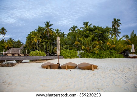 morning on the beach - stock photo