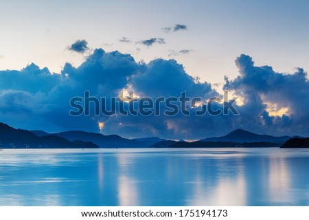 Morning seascape - stock photo