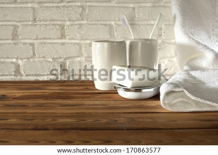 morning shelf  - stock photo
