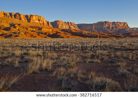 Morning sunrise at the Vermilion Cliffs National Monument - stock photo